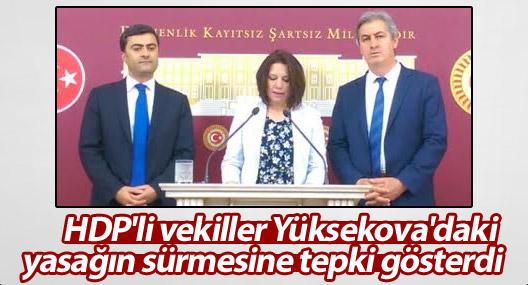 HDP'li vekiller Yüksekova'daki yasağın sürmesine tepki gösterdi