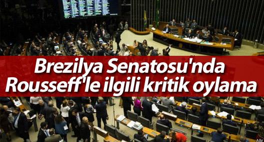 Brezilya Senatosu'nda Rousseff'le ilgili kritik oylama