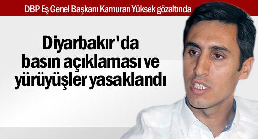 Diyarbakır'da basın açıklaması yasağı