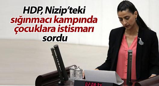 HDP, Nizip'teki sığınmacı kampında çocuklara istismarı sordu