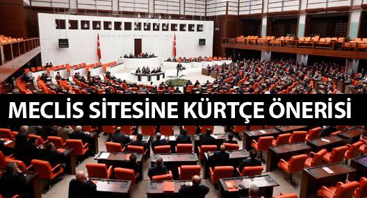 Meclis sitesine Kürtçe önerisi
