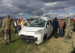 Van yolunda kaza:1 Yaralı