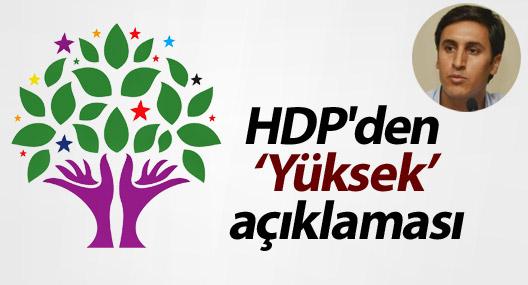 HDP'den Yüksek açıklaması