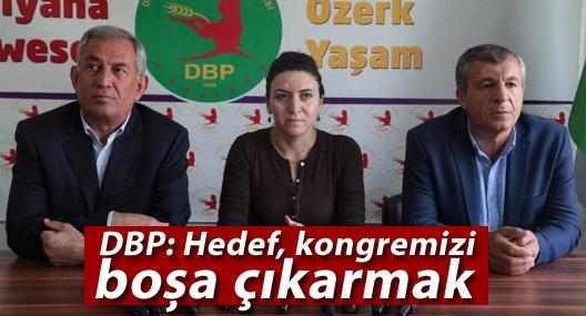 DBP: Hedef kongremizi boşa çıkarmak
