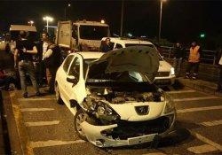 8 aracın karıştığı kazada yaralanan olmadı
