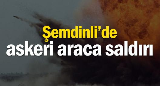 Şemdinli'de askeri aracın geçişi sırasında patlama