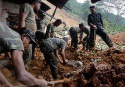 Heyelanın vurduğu Sri Lanka'da 150'den fazla ölü