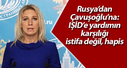 Rusya'dan Çavuşoğlu'na: IŞİD'e yardımın karşılığı istifa değil, hapis