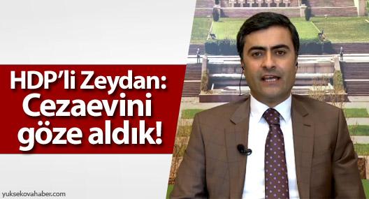 HDP'li Zeydan: Cezaevini göze aldık!