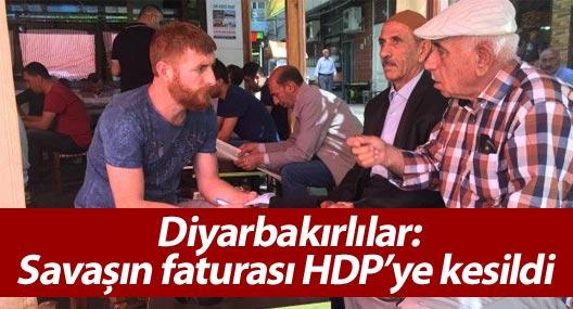 Diyarbakırlılar: Savaşın faturası HDP'ye kesildi