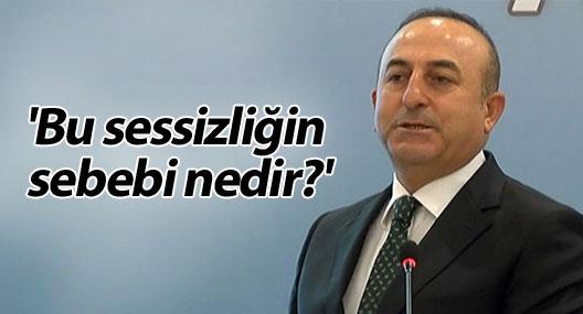 Bakan Çavuşoğlu: 'Bu sessizliğin sebebi nedir?'