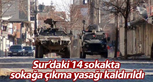 Sur'daki 14 sokakta sokağa çıkma yasağı kaldırıldı