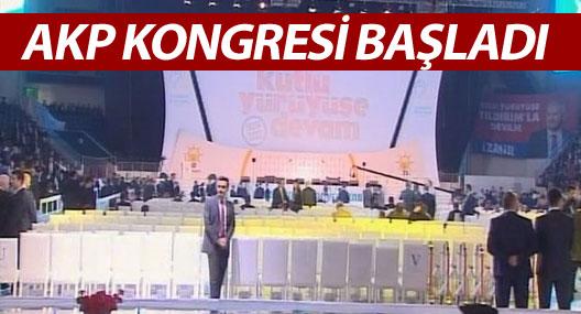 AKP kongresi başladı