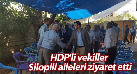 HDP'li vekiller Silopili aileleri ziyaret etti