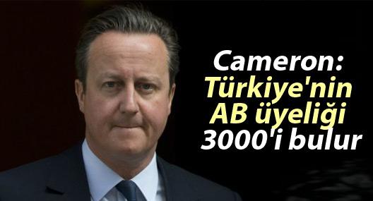 Cameron: Türkiye'nin AB üyeliği 3000'i bulur