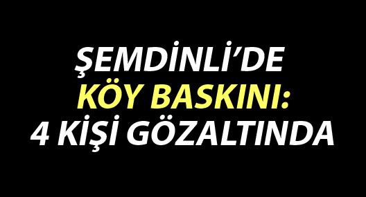 Şemdinli'de köy baskını: 4 gözaltı
