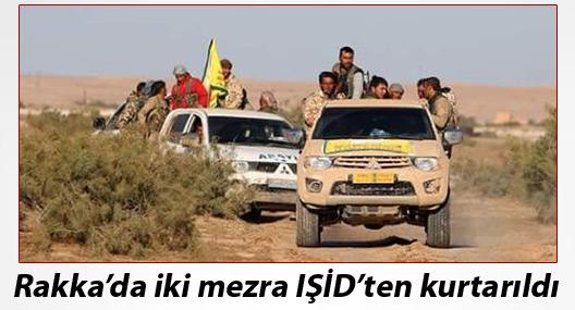 Rakka'da iki mezra IŞİD'ten kurtarıldı