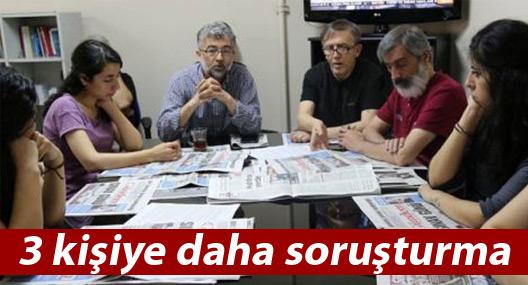 Özgür Gündem'in üç nöbetçi genel yayın yönetmenine soruşturma