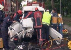 Bakırköy'de kaza: 1 yaralı