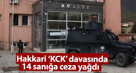 Hakkari 'KCK' davasında 14 sanığa ceza yağdı