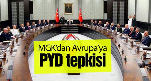 MGK'dan Avrupa'ya PYD tepkisi
