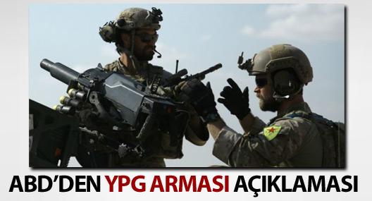 ABD'den YPG armalı kamuflaj açıklaması