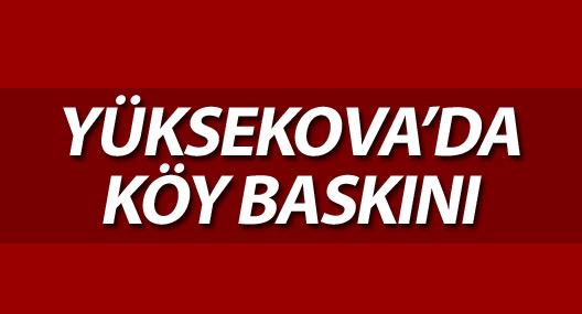 Yüksekova'da köy baskını