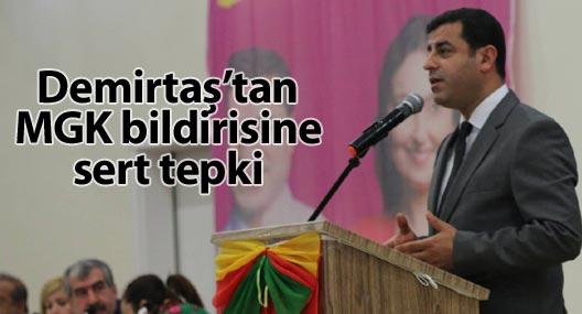 Demirtaş'tan MGK'ya sert eleştiri
