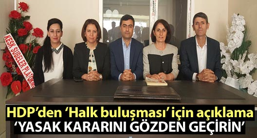HDP'den halk buluşmasına ilişkin açıklama