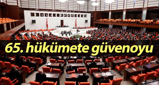 65. hükümete güvenoyu
