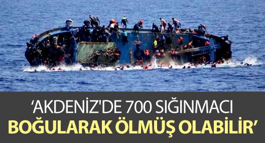 BM: Akdeniz'de 700 sığınmacı boğularak ölmüş olabilir