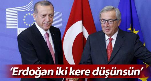 AB: Erdoğan anlaşmayı feshetmeden önce iki kere düşünsün