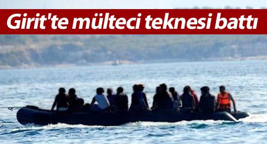 Girit'te mülteci teknesi battı: 450 kişi kayıp
