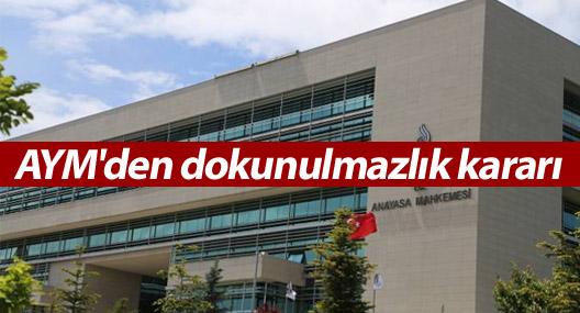 Anayasa Mahkemesi dokunulmazlık başvurusunu reddetti