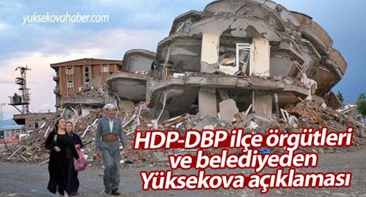 HDP-DBP ilçe örgütleri ve belediyeden Yüksekova açıklaması