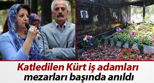 Katledilen Kürt işverenler mezarları başında anıldı