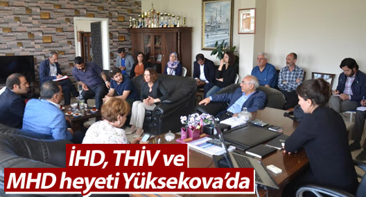 İHD, THİV ve MHD heyeti Yüksekova'da