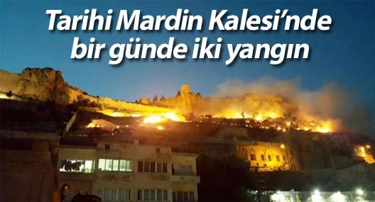 Tarihi Mardin Kalesi'nde bir günde iki yangın