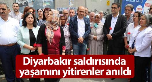 Diyarbakır'da 5 Haziran saldırısında yitirilenler anıldı