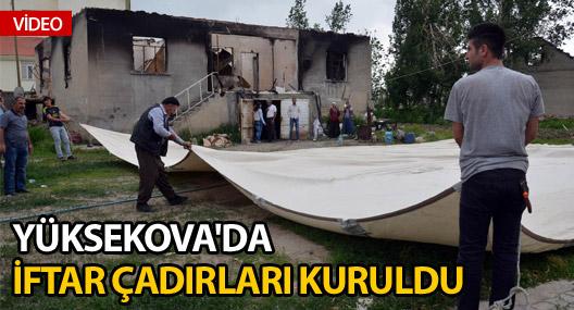 Yüksekova'da iftar çadırları kuruldu