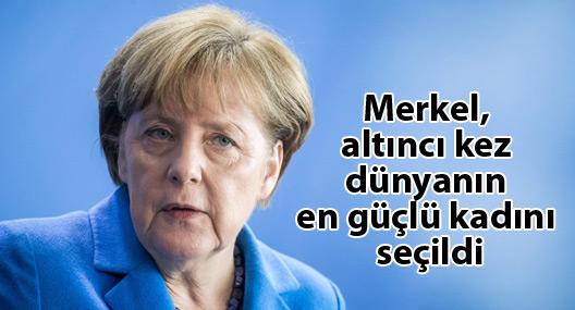 Merkel, altıncı kez dünyanın en güçlü kadını seçildi