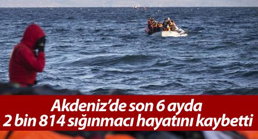 Akdeniz'de son 6 ayda 2 bin 814 sığınmacı hayatını kaybetti