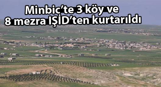 Minbic'te 3 köy ve 8 mezra IŞİD'ten kurtarıldı
