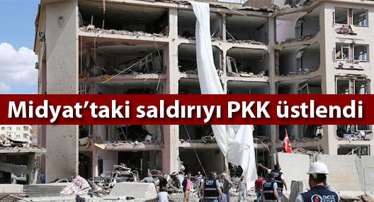 Midyat'taki saldırıyı PKK üstlendi