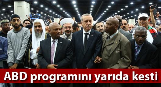 Erdoğan ABD programını yarıda kesti: Türkiye'ye dönüyor