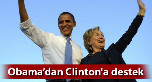 ABD Başkanı Obama, Clinton'a desteğini açıkladı