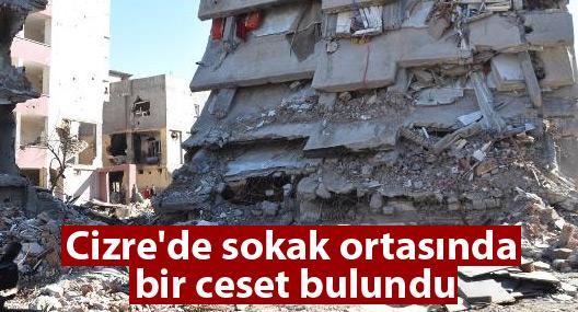 Cizre'de sokak ortasında bir ceset bulundu