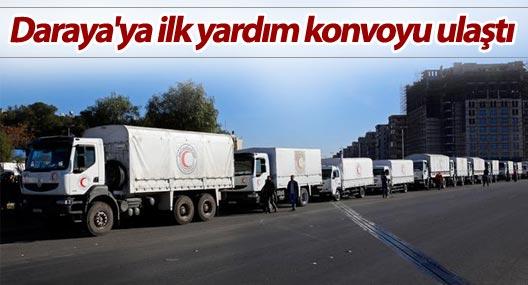 Daraya'ya ilk yardım konvoyu ulaştı