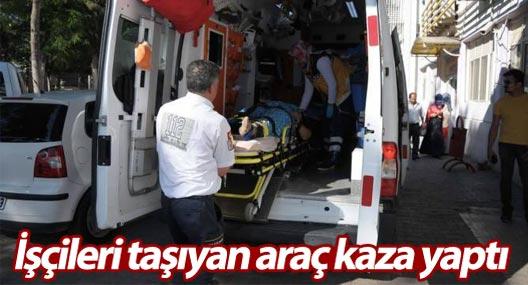 Tarım işçisi mültecileri taşıyan araç kaza yaptı