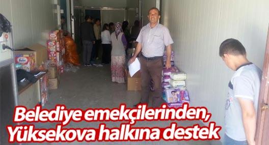 Belediye emekçilerinden, Yüksekova halkına destek